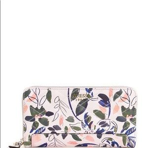 Guess large floral wallet